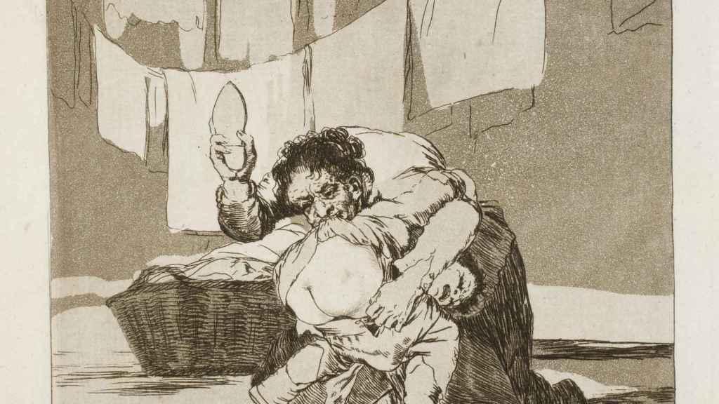 Detalle del 'Capricho' número 25 de Goya.