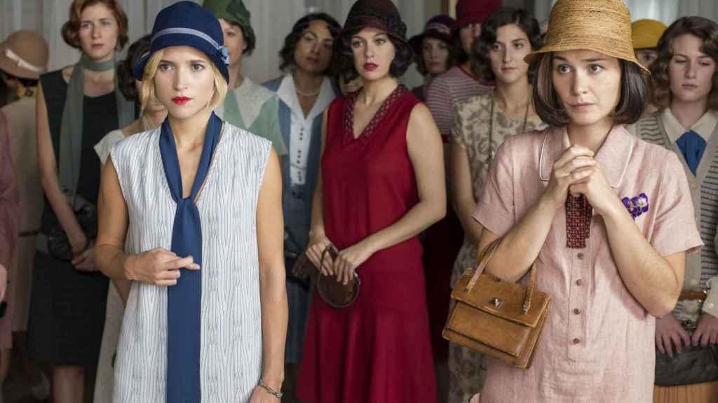 Imagen de las protagonistas de Las Chicas del Cable, serie estrenada por Netflix en España | Foto: Netflix.