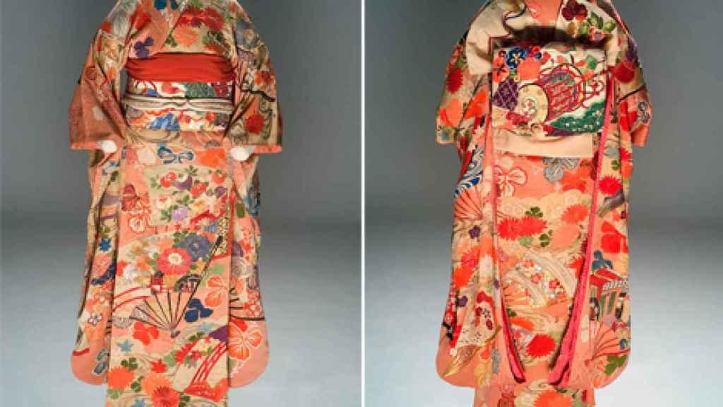 Kimono, de principios del siglo XX, de los fondos del Museo del Traje.