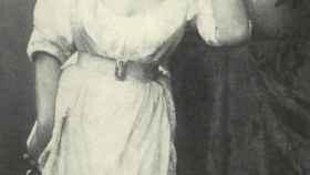 Fanny Stevenson durante su estancia en Inglaterra.