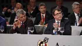 Villar y Pérez, cuando trabajaban juntos en la Federación.