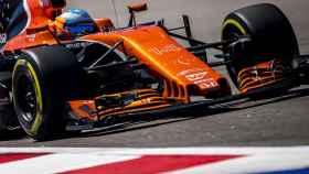 Fernando Alonso, durante la sesión.