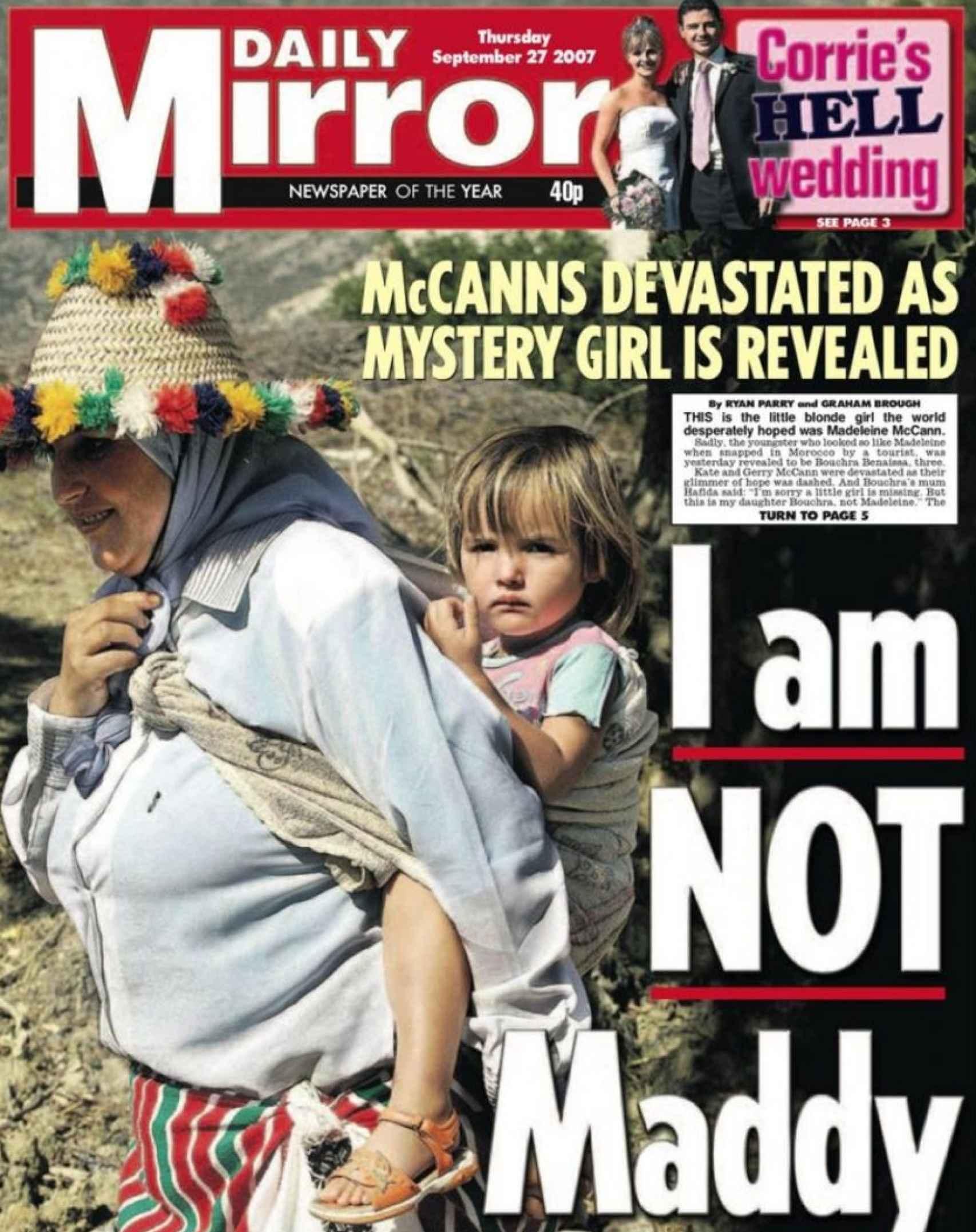 Varios medios dijeron que Madeleine había sido vista en Marruecos. La noticia resultó ser falsa.