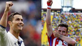 Cristiano Ronaldo y Saúl.