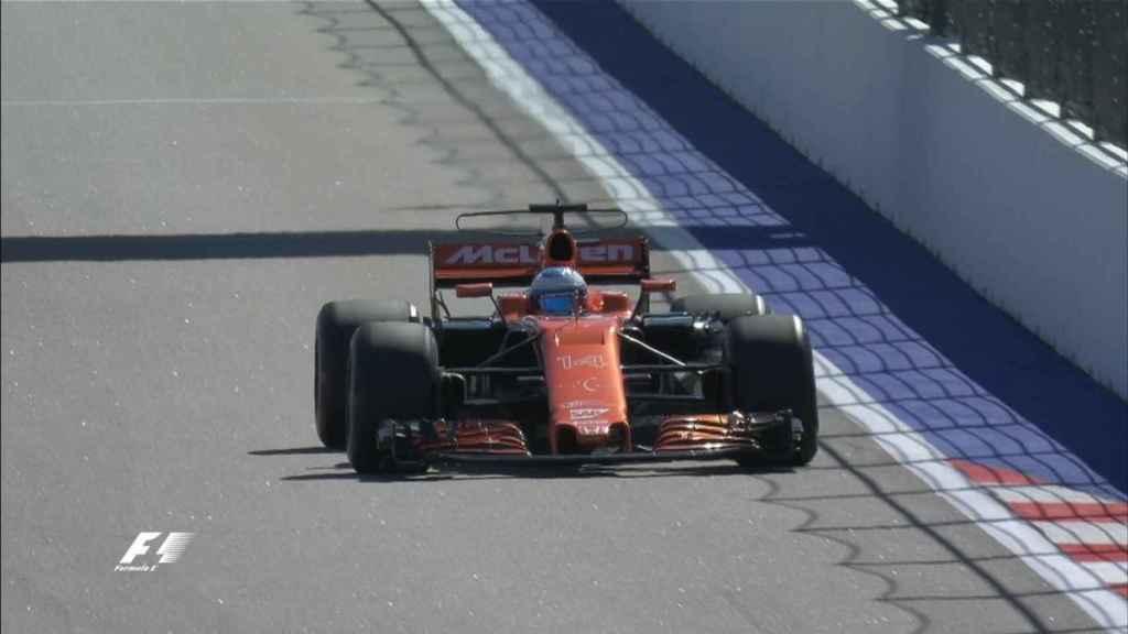 Fernando Alonso, durante la Q1.