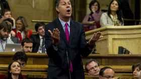 Albiol durante una comparecencia en el Parlament