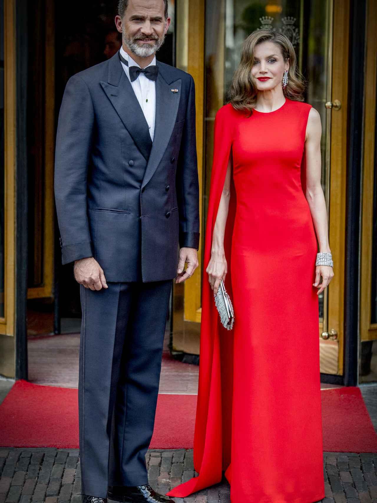Los reyes Felipe y Letizia asisten a la fiesta privada de cumpleaños de Guillermo de Holanda