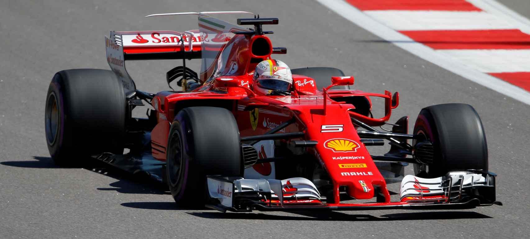 Sebastian Vettel, en Sochi.