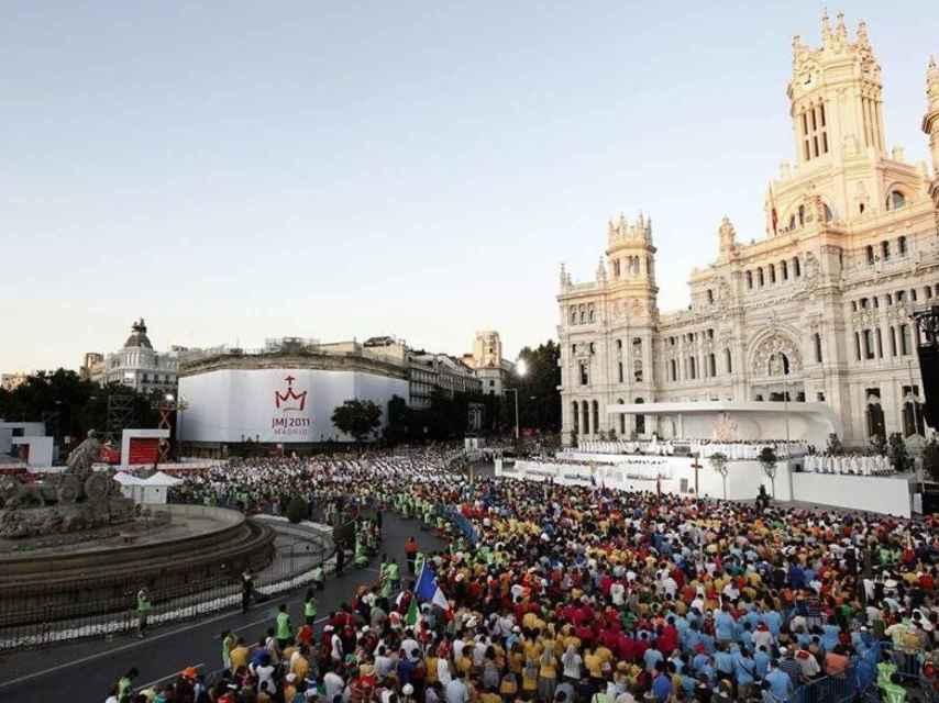 Una imagen de la Jornada Mundial de la Juventud en 2011, celebrada en Madrid.
