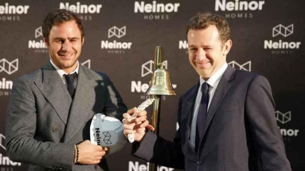 Juan Pepa y Juan Velayos, director general de Lone Star y consejero delegado de  Neinor, respectivamente.