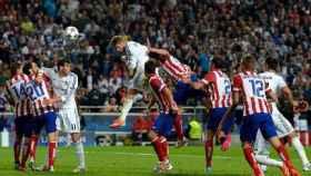 Sergio Ramos marcando el gol del empate al Atlético