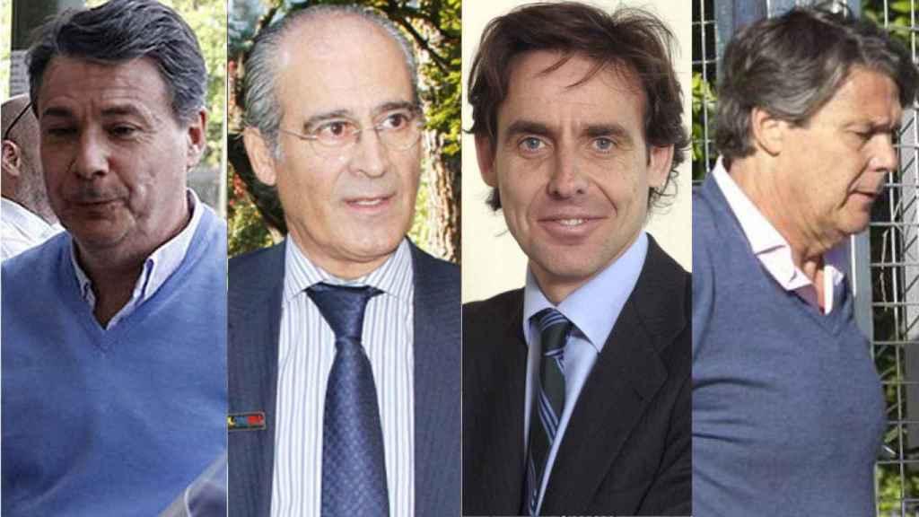 Ignacio González, Edmundo Rodríguez, Javier López Madrid y Pablo González.