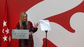 Cristina Cifuentes durante su intervención en el acto de entrega de las Medallas de la Comunidad de Madrid