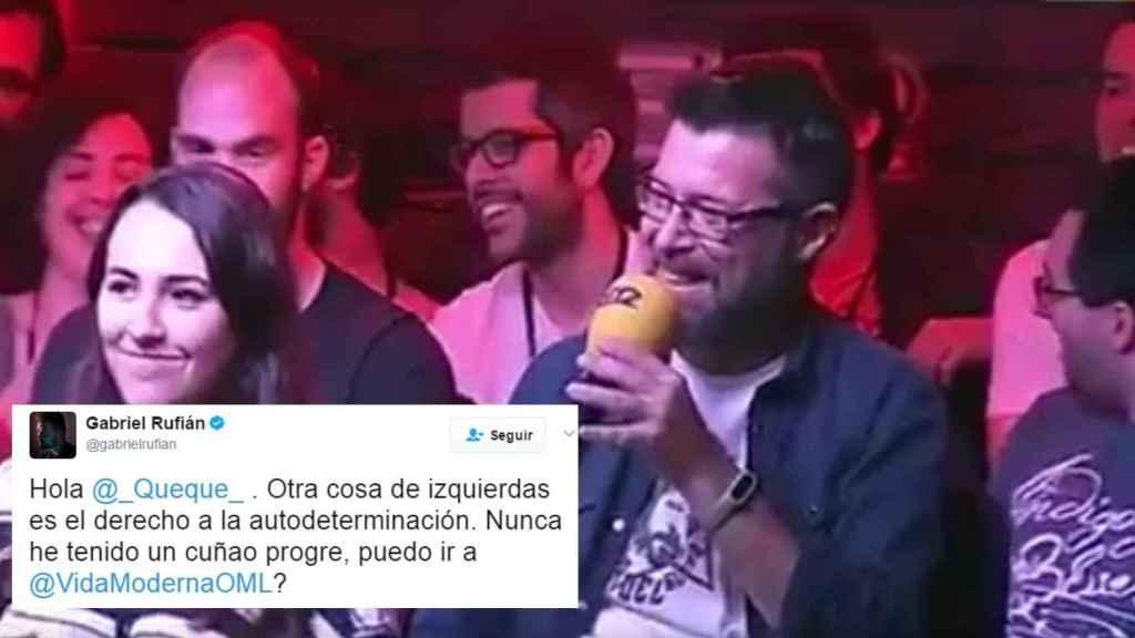 Gabriel Rufián responde a la intervención de Quequé.