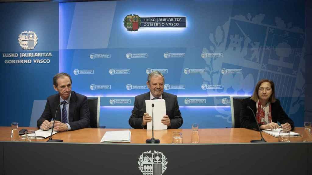 Valoración del acuerdo en la sede del Gobierno vasco.