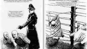El libro cómic comienza con la llegada de Antonio al campo y termina con su liberación.