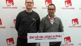 Juan Ramón Crespo, a la derecha, este miércoles en rueda de prensa