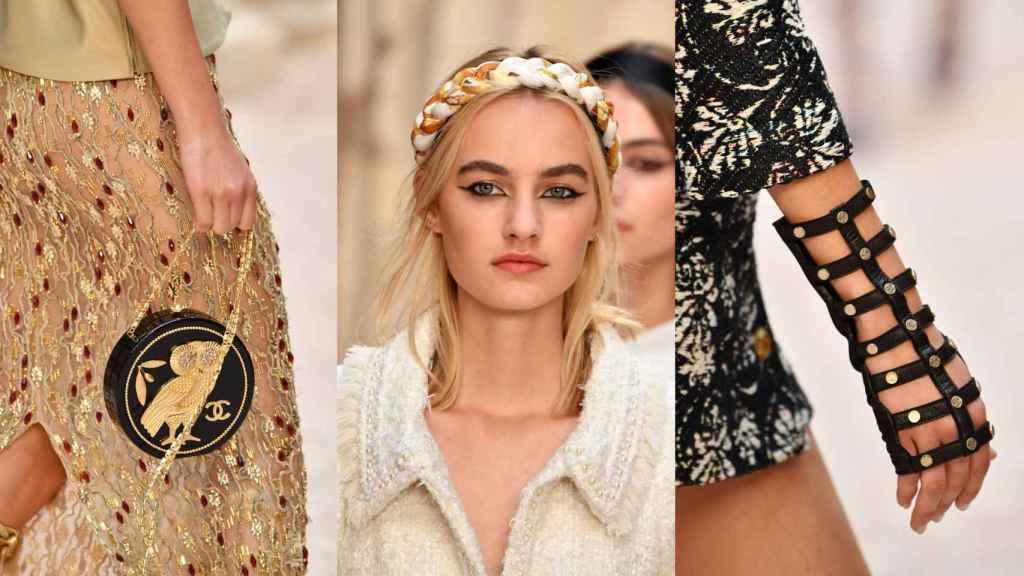 Los accesorios han sido clave en la propuesta de Lagerfeld. | Foto: Getty Images.