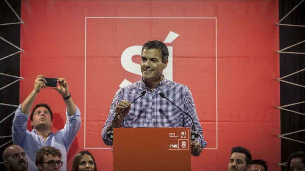 Pedro Sánchez, en un acto en Jerez de la Frontera (Cádiz), este jueves por la tarde.