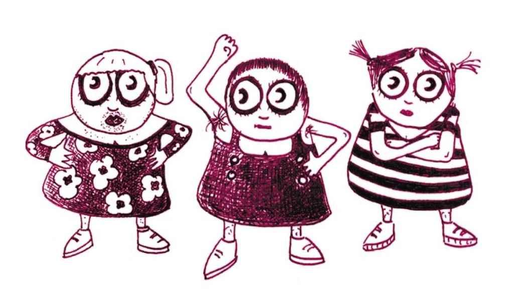Los personajes del libro en una de las ilustraciones que acompañan el texto.