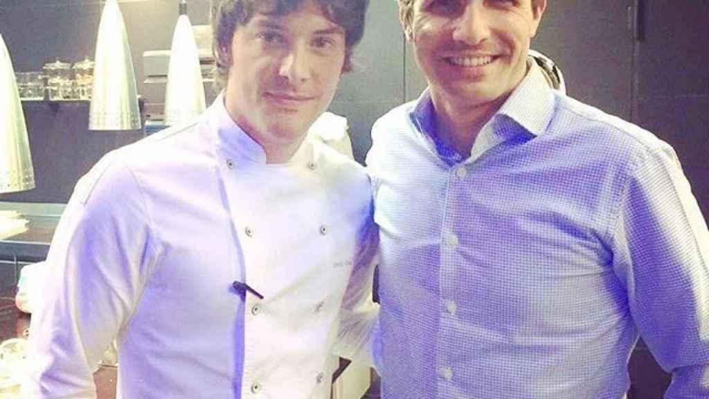 Jordi Cruz y Pablo Casado en el restaurante ABaC en Barcelona.