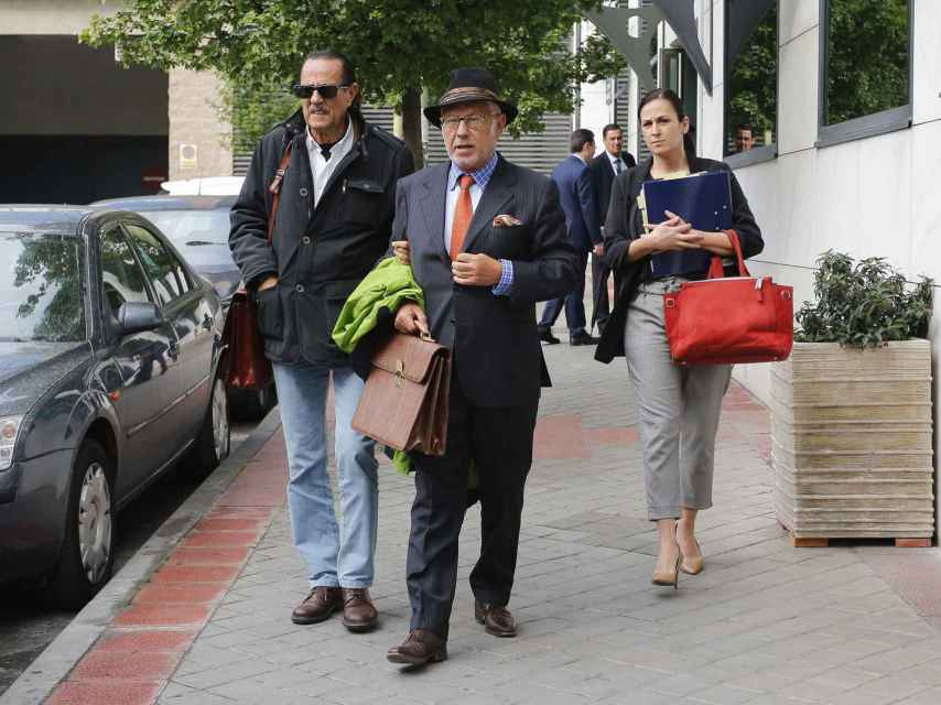 Julián Muñoz y Javier Saavedra en Madrid.