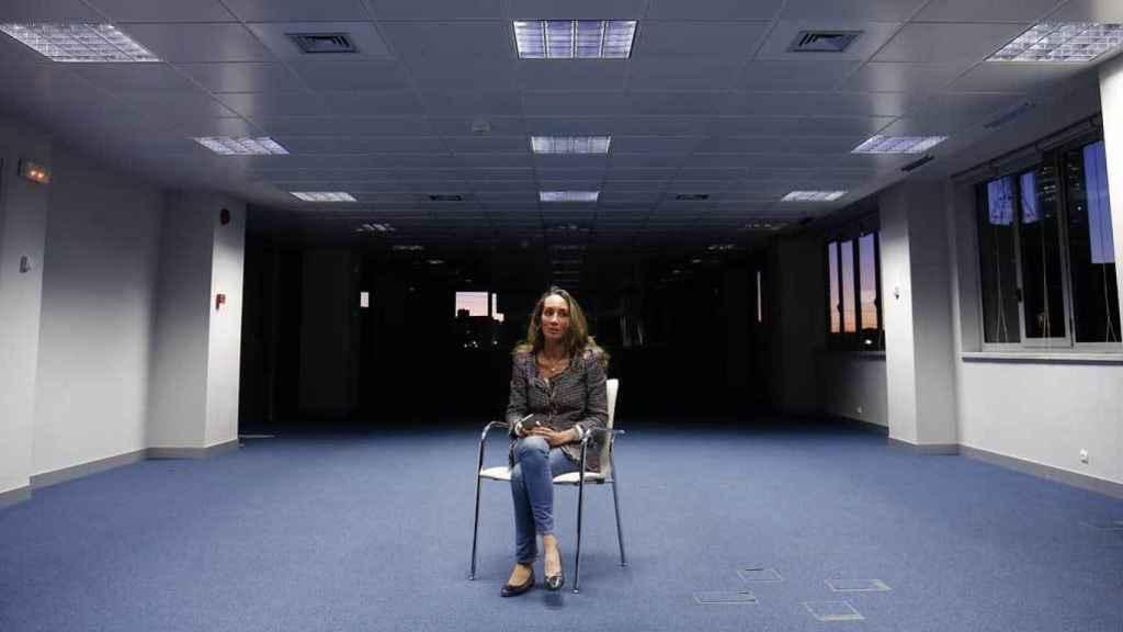 La doctora Elisa Pinto en la redacción de EL ESPAÑOL en febrero de 2015.