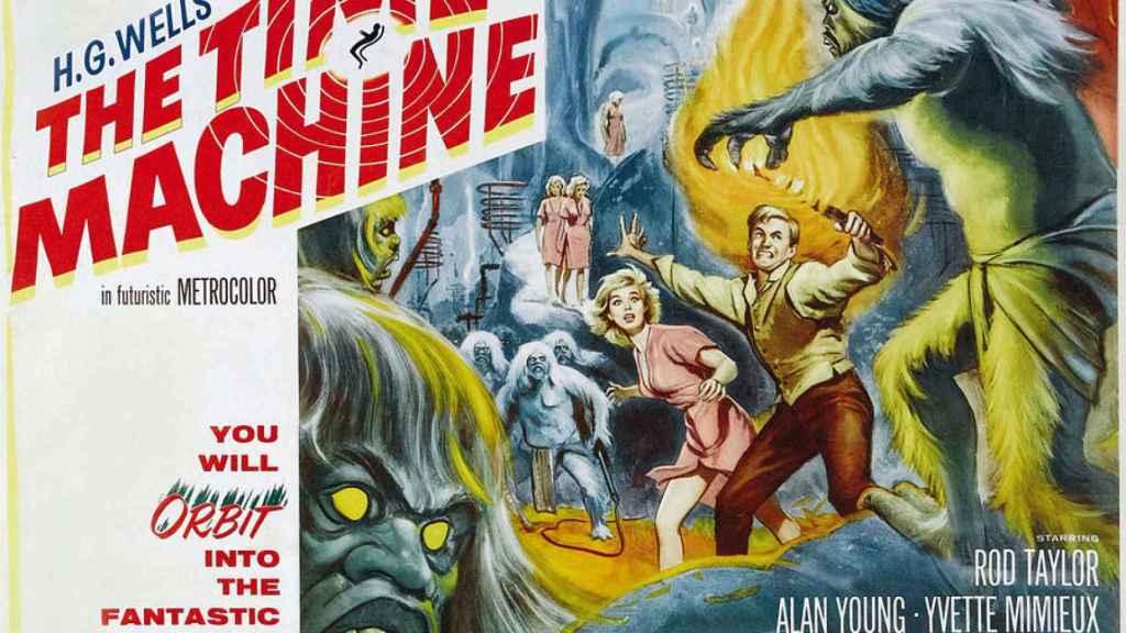 Cartel original de 'La máquina del tiempo', de 1960