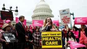 Imagen de las protestas contra la reforma sanitaria de Trump.