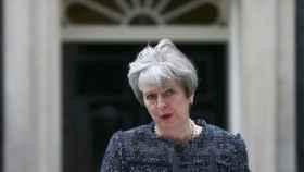 Theresa May durantu su discurso de esta semana en Downing Street
