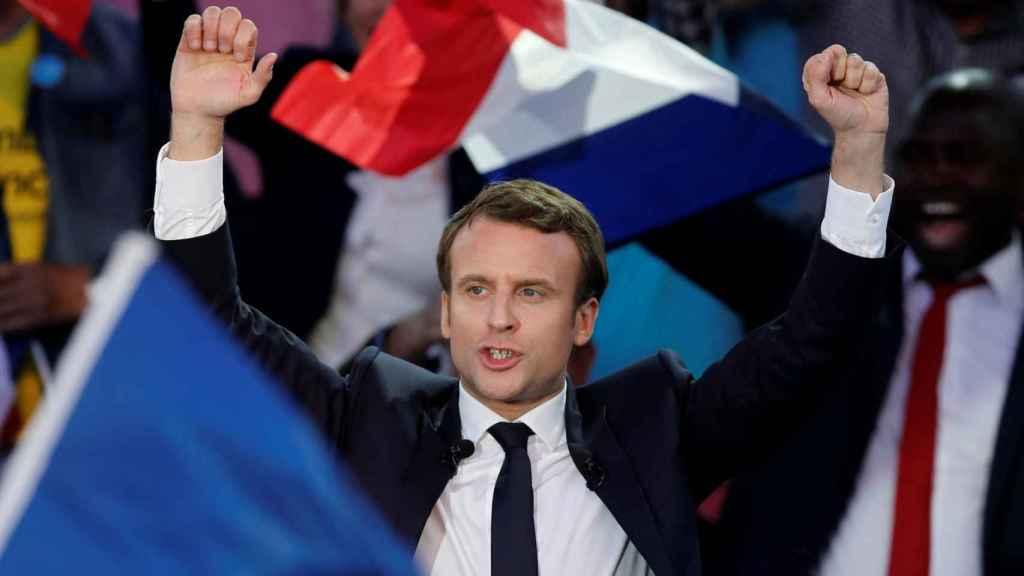 Macron, durante un mitin este jueves en Albi