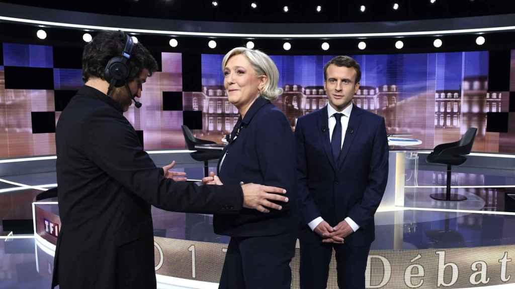 Los candidatos, durante el último cara a cara