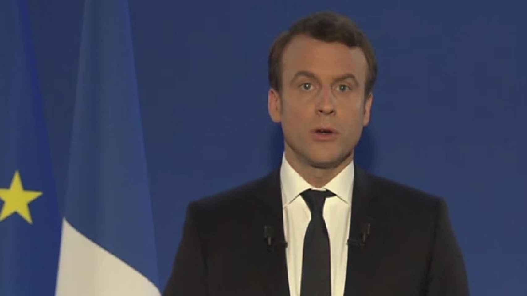 Macron durante su discurso