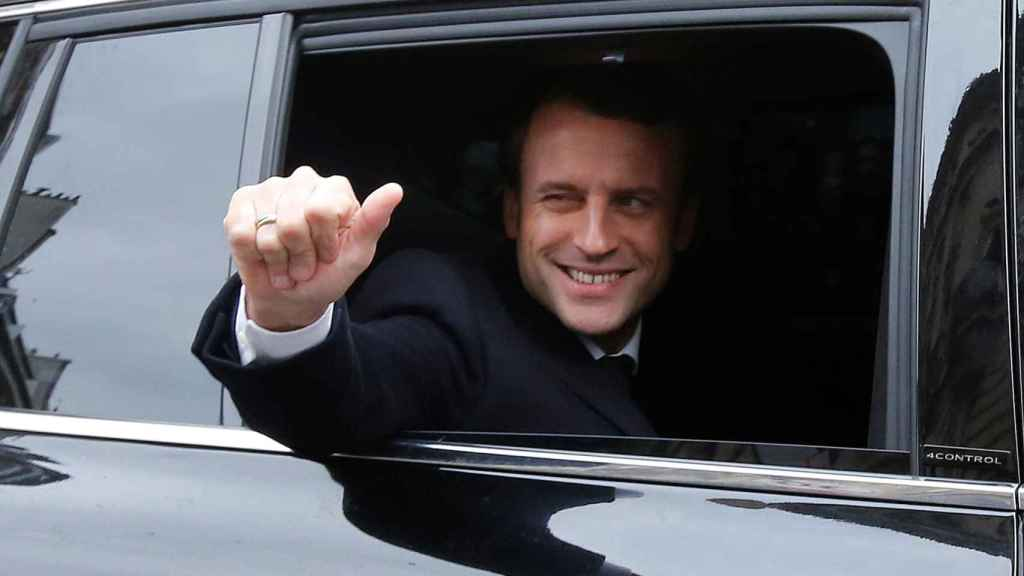 Macron, este domingo camino al cuartel general de En Marche! para seguir el recuento