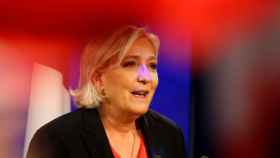 Marine Le Pen, tras conocer los resultados.