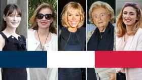Carla Bruni, Valérie Trierweiler, Brigitte Trogneux, Bernadette Chirac y Julie Gayet.