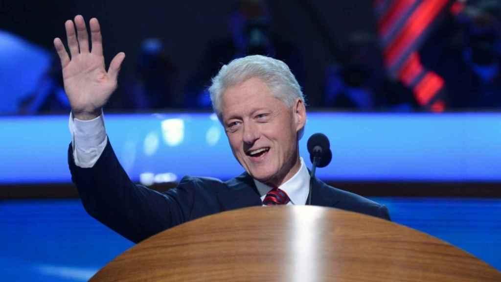Bill Clinton en una convención demócrata.