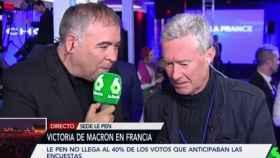 Antonio García Ferreras, reportero ocasional de El Objetivo, y Jorge Verstrynge.