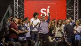 Pedro Sánchez, durante un acto de la campaña para las primarias.
