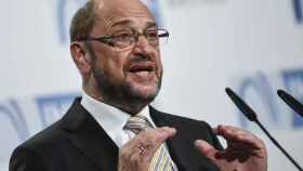 Martin Schulz, durante un discurso este lunes en Berlín