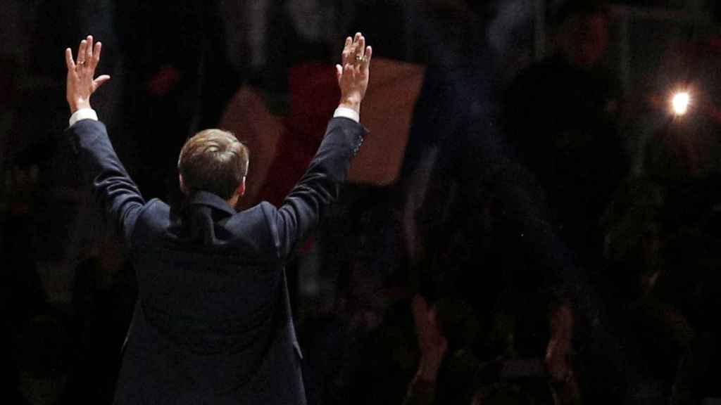 Emmanuel Macron, tras conocer su victoria.