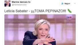 Leticia Sabater presenta también en la noche electoral francesa