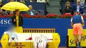 Una de las azafatas que trabajaron en la última edición del Torneo Conde de Godó