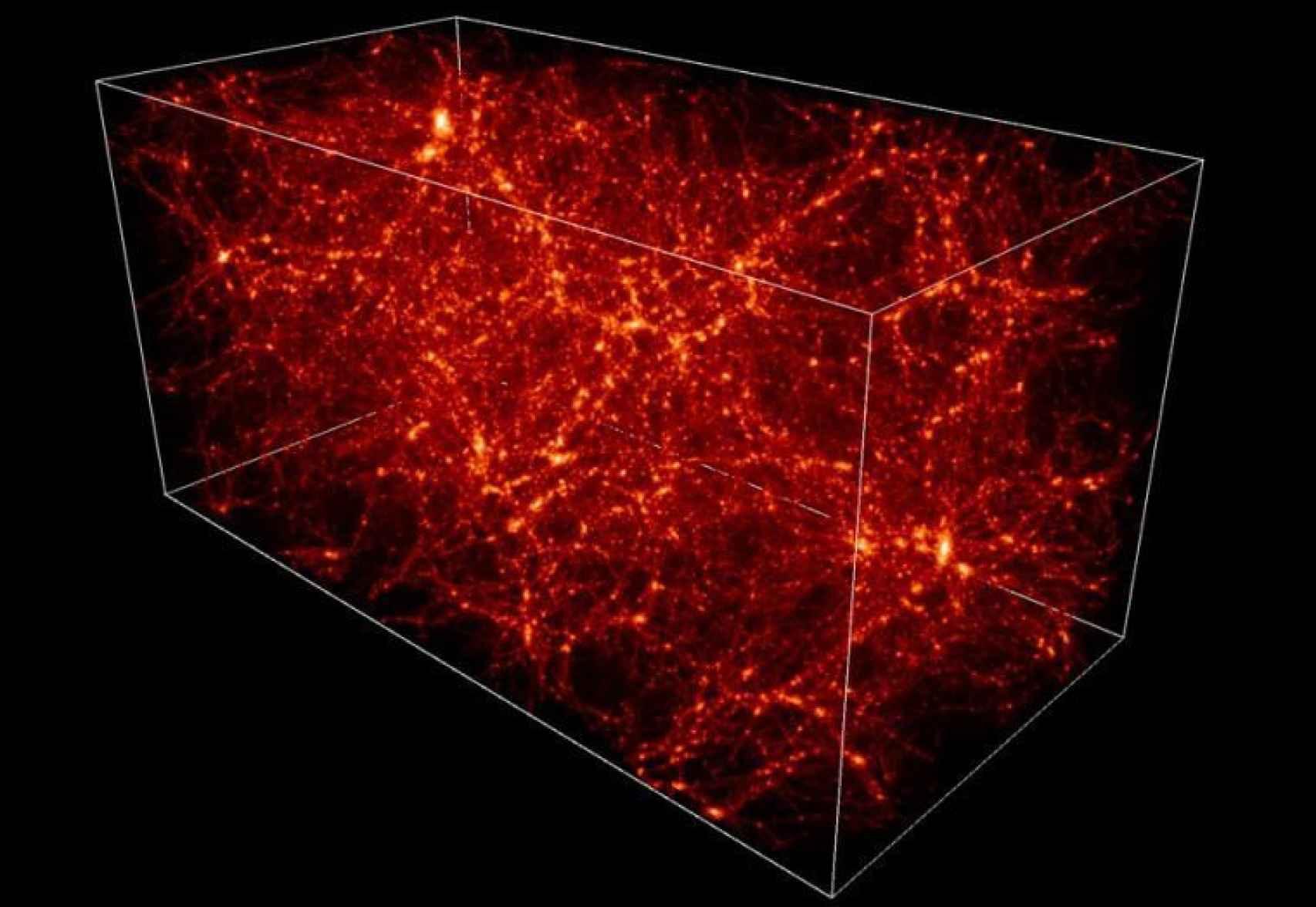 Ilustración de un mapa de materia oscura.