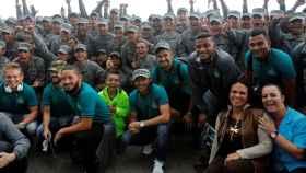El recibimiento al Chapecoense en Medellín.
