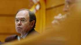 Pío García Escudero durante una sesión de control al Gobierno en el Senado.