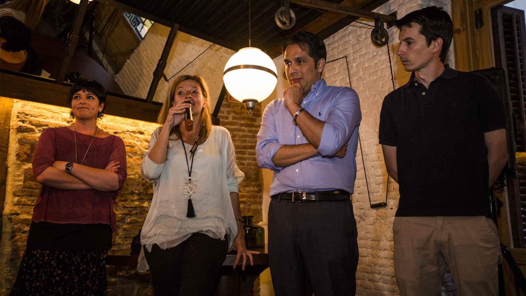 De izda. a dcha: Azahara Peralta, Ana Garrido Ramos, Roberto Macías y Luis Gonzalo Segura.