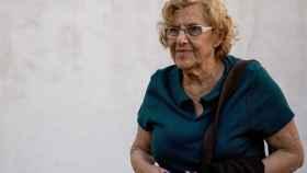 Manuela Carmena, antes de un encuentro vecinal.