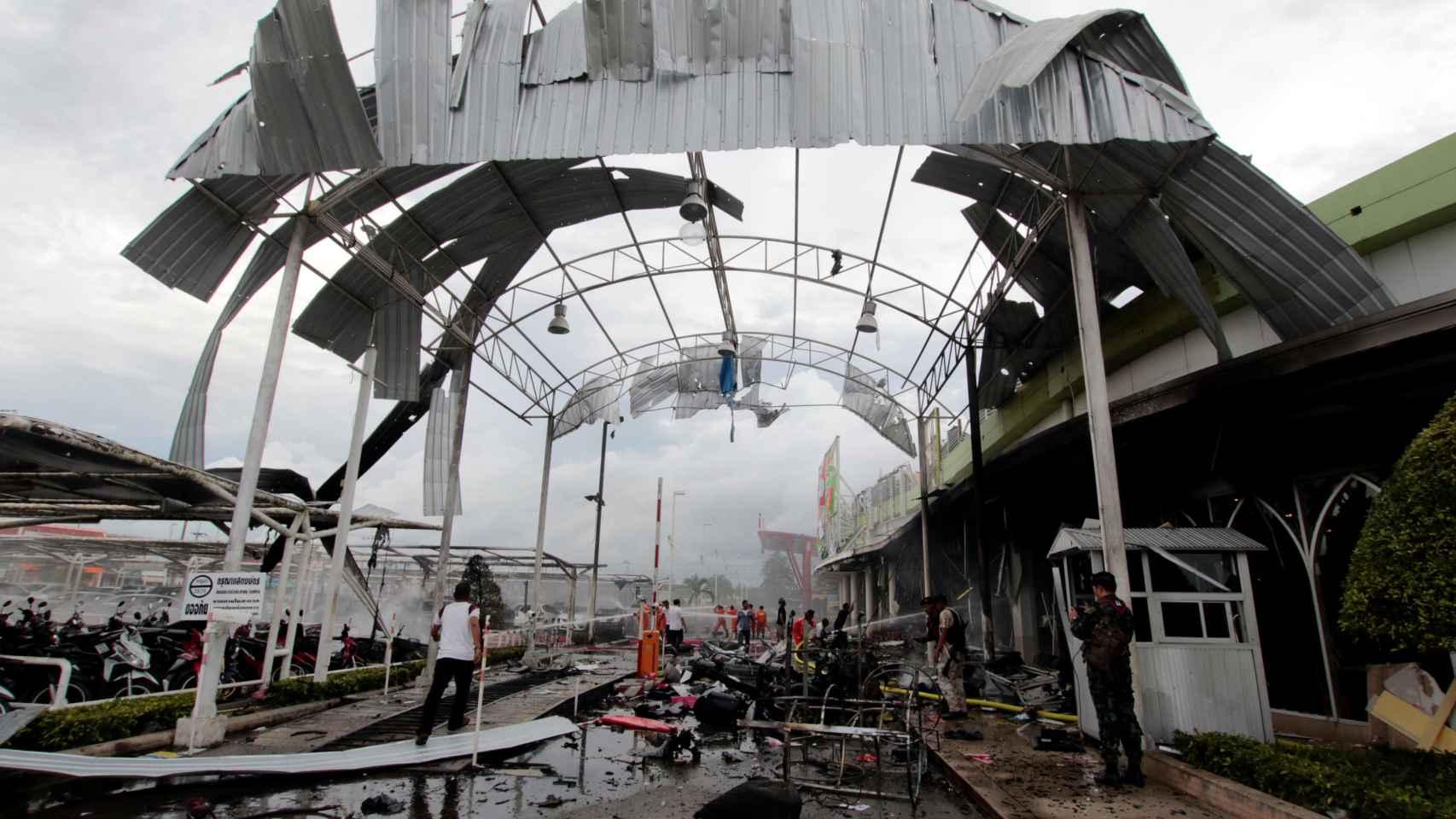 Doble atentado en un centro comercial del sur de Tailandia