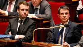 Manuel Valls, junto con Macron cuando compartían Gobierno.